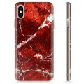 iPhone X / iPhone XS TPU Case - Red Marble