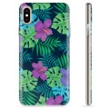 iPhone X / iPhone XS TPU Case - Tropical Flower