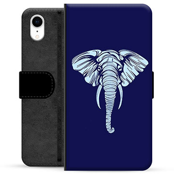 iPhone XR Premium Wallet Case - Elephant
