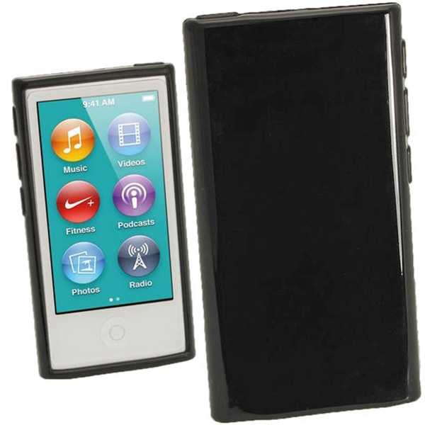 ipod nano 7g igadgitz glossy tpu case black. Black Bedroom Furniture Sets. Home Design Ideas