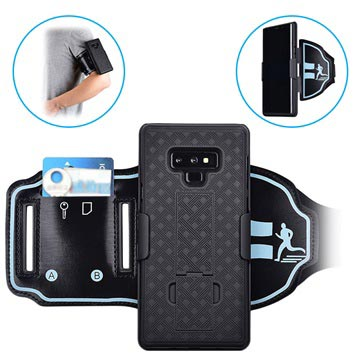 2-in-1 Detachable Samsung Galaxy Note9 Sports Armband - Black