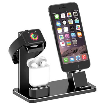 3-in-1 Charging Stand HJZJ001 - iPhone, Apple Watch, AirPods - Black