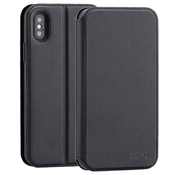3Sixt SlimFolio iPhone XS Flip Case - Black