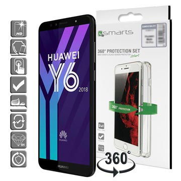 Huawei Y6 (2018) 4smarts 360 Protection Set - Clear