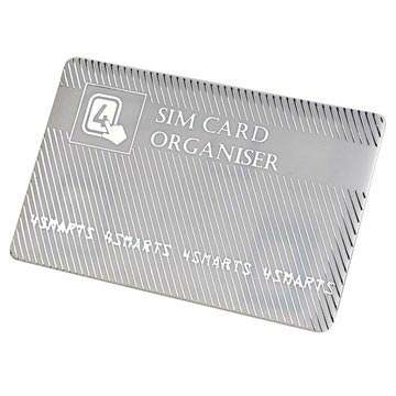 4smarts SIM Card Holder & Adapter Set - Silver