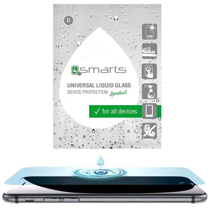 4smarts Liquid Glass Universal Screen Protector - HD Visibility
