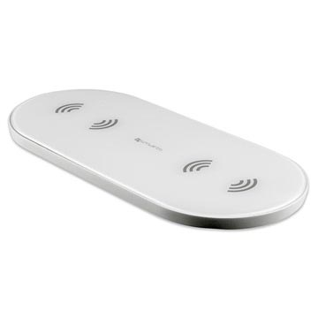 4smarts VoltBeam All In Dual Qi Wireless Charger - 2 x 5W - White