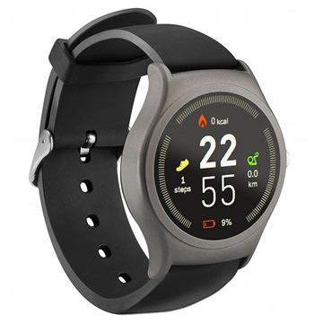 Acme SW201 Smartwatch with Heart Rate Monitor - Black