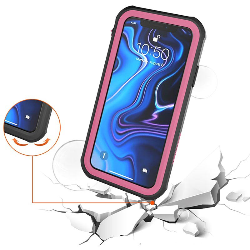 Active Series IP68 iPhone XS Max Waterproof Case - Hot Pink / Black