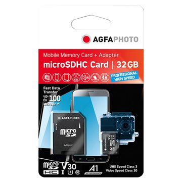 AgfaPhoto Professional High Speed MicroSDXC Memory Card 10616