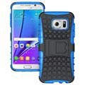 Samsung Galaxy S7 Edge Anti-Slip Hybrid Case - Black / Blue
