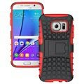 Samsung Galaxy S7 Anti-Slip Hybrid Case - Black / Red