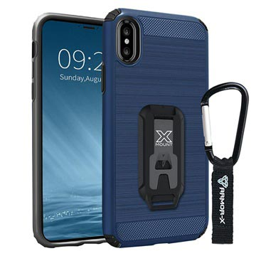 iPhone X / iPhone XS Armor-X CX-IPHX-NY Shockproof Rugged Case - Navy Blue