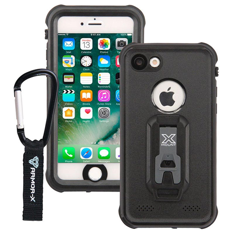 iPhone 7 Armor-X MX-AP7 Waterproof Case - Black