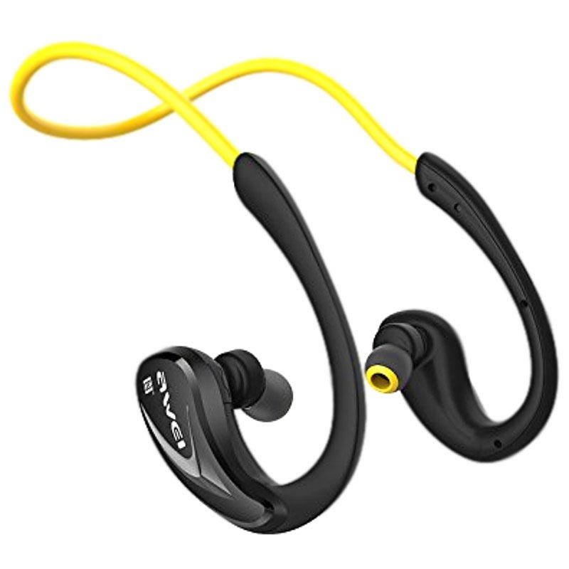 Awei A880BL In-Ear Sports Bluetooth Headset - Yellow