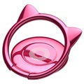 Baseus Cat Ears Ring Holder - Hot Pink