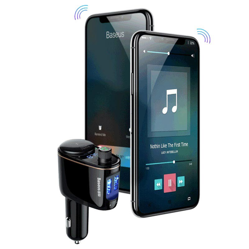 Baseus Locomotive Bluetooth FM Transmitter & Car Charger