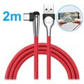 Baseus MVP Mobile Game USB 3.1 Type-C Cable - 2m - Red