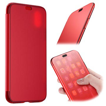 Baseus Touchable iPhone XS Max Flip Case - Red