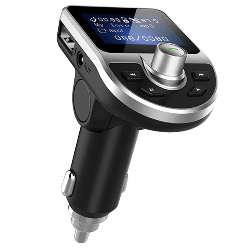 Dual USB Car Charger & Bluetooth FM Transmitter BT39 - Black