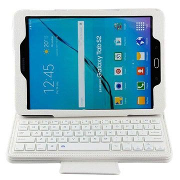 Samsung Galaxy Tab S2 9.7 T810, T815 Bluetooth Keyboard & Folio Case - White