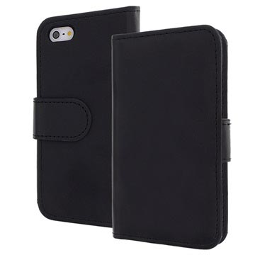 iPhone 5 / 5S / SE Flip Leather Case - Black