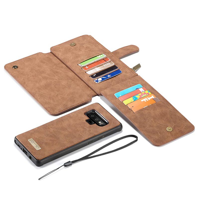 Caseme 2-in-1 Multifunctional Samsung Galaxy Note9 Wallet Case - Brown