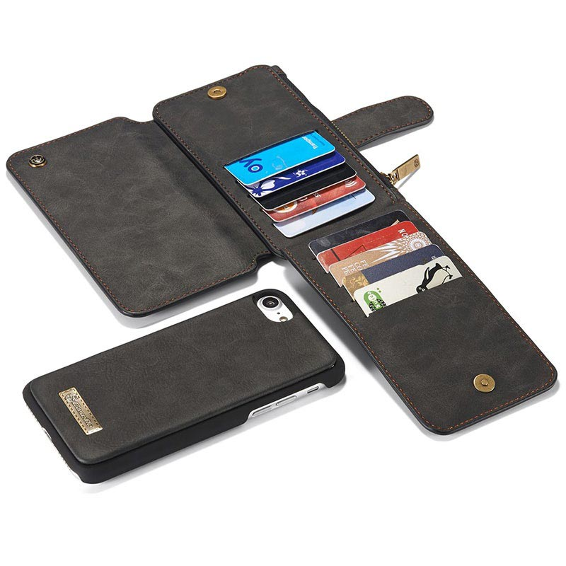 iPhone 7/8/SE (2020) Caseme 2-in-1 Wallet Case - Black