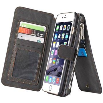 iPhone 6 Plus/6S Plus Caseme Multifunctional Wallet Case - Black