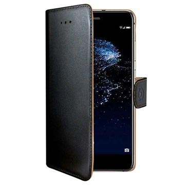 Huawei P10 Lite Celly Wally Wallet Case - Black