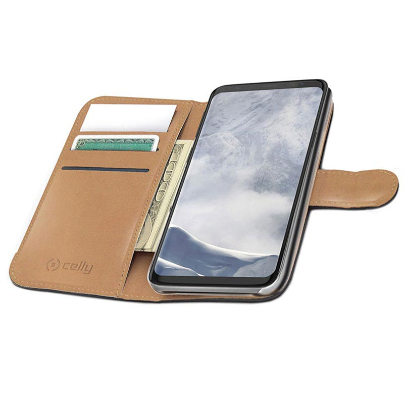 Samsung Galaxy S9 Celly Wally Wallet Case - Black