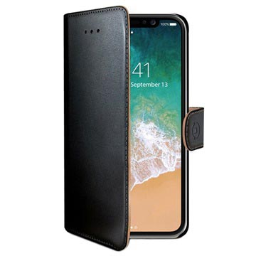 iPhone X / iPhone XS Celly Wally Wallet Case with Stand Function