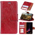 Huawei P Smart Classic Wallet Case with Kickstand - Red