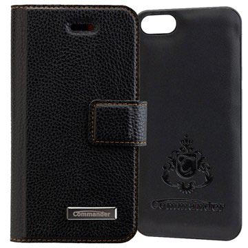 iPhone 5/5S/SE Commander Book & Cover Case - Black