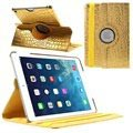 iPad Air Rotary Smart Leather Case - Crocodile - Gold