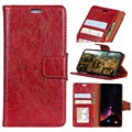 Elegant Series Motorola Moto E5, Moto G6 Play Wallet Case - Red