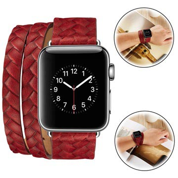 Fancy Apple Watch Series 5/4/3/2/1 Woven Strap - 38mm, 40mm - Red