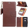 Exclusive Sony Xperia XZ2 Compact Wallet Leather Case - Brown
