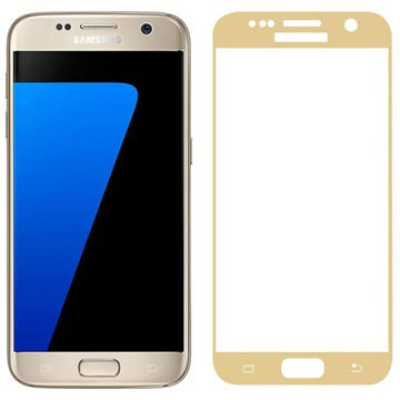 Samsung Galaxy S7 Fema 3D Full Size Tempered Glass Screen Protector - Gold