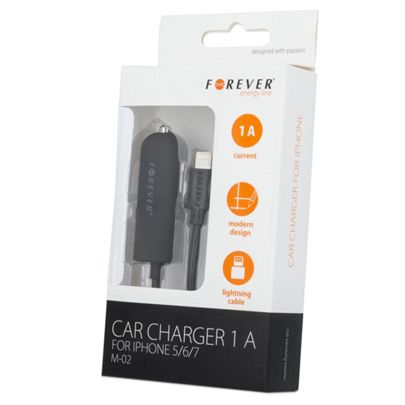 Forever HQ Car Charger - iPhone X/XR/XS max/6/6S/iPad Pro - Black