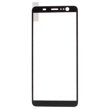 HTC U11+ Full Cover Tempered Glass Screen Protector - Black