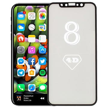 iPhone X/XS/11 Pro Full Cover 4D Glass Screen Protector - Black