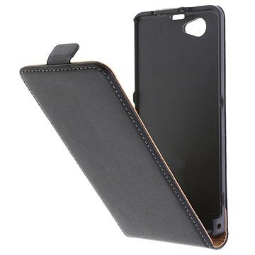 Sony Xperia Z1 Compact Flip Leather Case - Black
