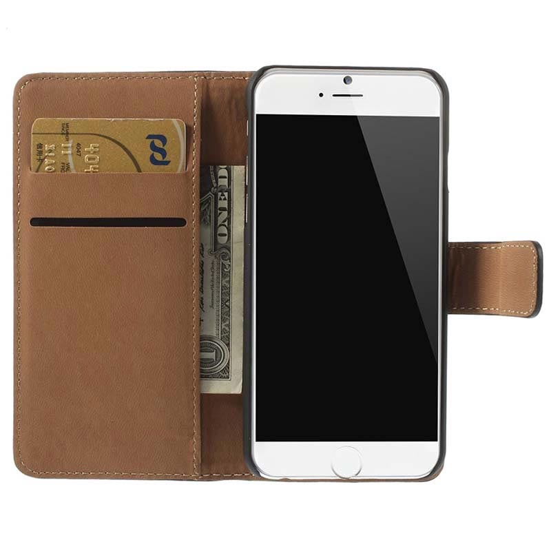 iPhone 6 / 6S Wallet Leather Case - Black
