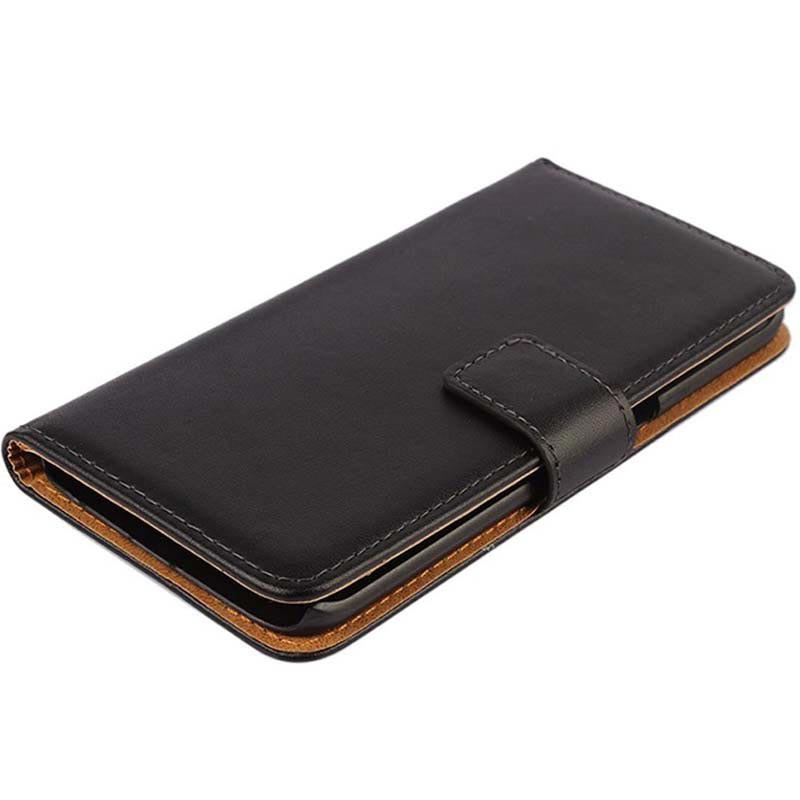 Samsung Galaxy S6 Edge Wallet Leather Case - Black