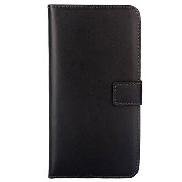 Samsung Galaxy S6 Edge+ Wallet Leather Case - Black