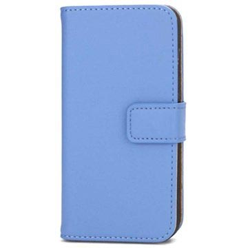 iPhone 5 / 5S / SE Wallet Leather Case - Blue