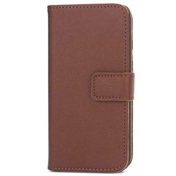 iPhone 5 / 5S / SE Wallet Leather Case - Coffee