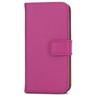 iPhone 5 / 5S / SE Wallet Leather Case - Hot Pink