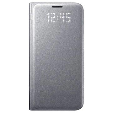 Samsung Galaxy S7 LED Flip Wallet Case EF-NG930PS - Silver